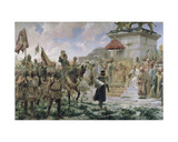 The Arrival of Roger De Flor (1280-1307) in Constantinople in 1303 with 8000 'Almogavares'… Giclee Print by Jose Moreno carbonero