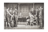 Guy Fawkes (1570-1606) Interrogated by James I (1566-1625) and His Council in the King's… Giclee Print by William Ralston