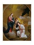 St Valentine Kneeling in Supplication Giclée-tryk af David III Teniers