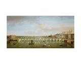 Westminster Bridge Giclée-tryk af Antonio Joli