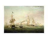 View of the Port of Hull with the Spartan Giclee Print by George the Elder Chambers