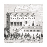 Hotel of the Chamber of Accounts in the Courtyard of the Palace in Paris, after a Woodcut in… Giclee Print by Albert Coinchon