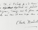 'Voyage a Cythere' End of the Poem with Autograph Signature Photographic Print by Charles Pierre Baudelaire