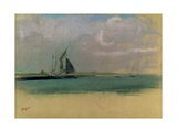 Fishing Boats Moored in the Harbour, C.1869 Giclee Print by Edgar Degas