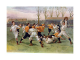 The Football Match, 1890 Giclee Print by William Heysham Overend
