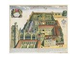 New College, Oxford, from 'Oxonia Illustrata', Published 1675 Giclee Print by David Loggan