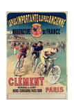 Poster Advertising the Cycles 'Clement', 1891 Reproduction procédé giclée par Lucien Baylac