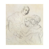 A Mother and Her Children Giclee Print by Theodore Gericault