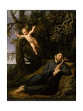 St. Francis De Sales (1567-1622) in the Desert, C.1700-10 Giclee Print by Marco Antonio Franceschini