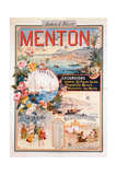 Poster Advertising Menton as a Winter Resort Giclee Print by V. Nozeran
