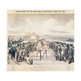 The Great Fight Between Tom Hyer and Yankee Sullivan, 1849 Giclee Print by James S. Baillie