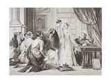 Lady Jane Grey's Reluctance to Accept the Crown, Sion House, 8th July 1553, from 'Illustrations… Giclee Print by Charles Robert Leslie