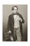 John Baldwin Buckstone (1802-79) Engraved by D.J. Pound from a Photograph, from 'The Drawing-Room… Giclee Print by John Jabez Edwin Paisley Mayall