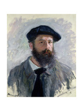 Self Portrait with a Beret, 1886 Giclee Print by Claude Monet
