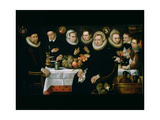 The Family of Adrien De Witte (1555-1616) 1608 Giclee Print by Hieronymus Francken