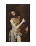 Christ Carrying the Cross Giclee Print by Michiel I Coxie or Coxcie