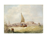 The Old Harbour, Hull Giclee Print by George the Elder Chambers