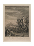 H.R.H. William (1721-65) Duke of Cumberland with a View of the Routed Army Near Culloden, 1746,… Giclee Print by John Wootton