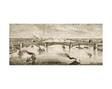 Steel Bridge Crossing the Mississippi River at St. Louis, C.1874, from 'American Pictures',… Giclee Print