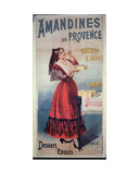 Poster Advertising 'Amandines De Provence', French Biscuits Giclee Print by  Duzolle