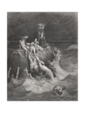 The Deluge, Illustration from Dore's 'The Holy Bible', Engraved by Pannemaker, 1866 Giclee Print by Gustave Dore
