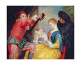 The Music Lesson Giclee Print by Jean Antoine Watteau