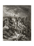 Richard I (1157-99) the Lionheart in Battle at Arsuf in 1191, Illustration from 'Bibliotheque Des… Giclee Print by Gustave Doré