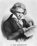 Ludwig Van Beethoven (1770-1827) Composing His 'Missa Solemnis', Engraved by Charles or Pierre… Photographic Print by Joseph Carl Stieler