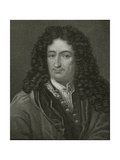 Godfrey William Leibnitz (1646-1716) from 'Gallery of Portraits', Published in 1833 Giclee Print