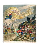 Disciples Catching the Mantle: the Spirit of Darkness Overshadowing the Priests of Baal,… Giclee Print by James Gillray