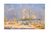 Quai De La Tournelle and Notre-Dame De Paris, 1884 Giclee Print by Albert-Charles Lebourg