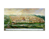 A View of the Walled City of Jerusalem, C.1740 Giclee Print by German School