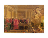 The Magistrates of Paris Receiving News of the Peace, 21st June 1763 Giclee Print by Noel Halle