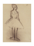 Ballerina Viewed from the Back Giclee Print by Edgar Degas