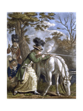 'The Ladies Shooting Poney', 1780 Giclee Print by John Collet