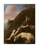 Pastoral, Shepherd and Sheep Giclee Print by Jusepe de Ribera