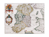 Map of Ireland, 1635 Giclee Print by Willem Janszoon Blaeu