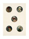 Studies of Jockeys Giclee Print by Abraham Cooper