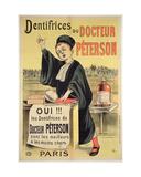 Poster Advertising Dr. Peterson's Toothpastes Giclée-tryk af Eugene Oge