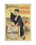 Poster Advertising Dr. Peterson's Toothpastes Giclee Print by Eugene Oge