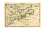 Eastern Canada, Newfoundland, Nova Scotia and St John Island, from 'Atlas De Toutes Les Parties… Giclee Print by Charles Marie Rigobert Bonne