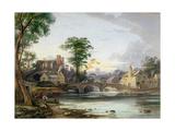 Brecon Castle Giclée-Druck von John Varley