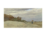 The Beach at Dunkirk, 1857 Giclee Print by Jean-Baptiste-Camille Corot