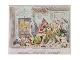 Un Petit Souper a La Parisienne, or a Family of Sans-Culottes Refreshing after the Fatigues of… Giclee Print by James Gillray