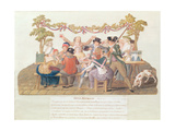A Republican Meal, Messidor, Year II (June-July 1794) Impression giclée par  Lesueur Brothers