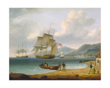 Merchant Ships under Sail and at Anchor Off a Town Giclee Print by William Anderson