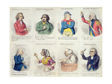 8 Vignettes Depicting Eloquence, Published by Hannah Humphrey in 1795 Giclee Print by James Gillray