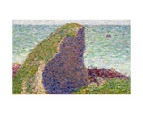 Study for Le Bec Du Hoc, Grandcamp, 1885 Giclee Print by Georges Seurat