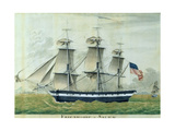 Uss 'Friendship' of Salem Giclee Print by Giuseppe Fedi