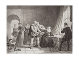 Mary Queen of Scots (1542-87) Compelled to Sign Her Abdication in Lochleven Castle in 1567, from… Giclee Print by Sir William Allan